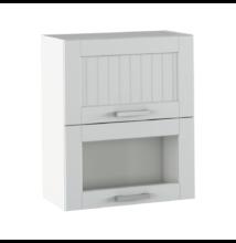Felső szekrény, világosszürke/fehér, JULIA TYP 8