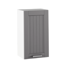 Felső szekrény, sötétszürke/fehér, JULIA TYP 4