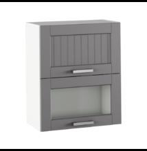 Felső szekrény, sötétszürke/fehér, JULIA TYP 8
