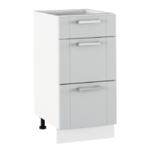 Alsó szekrény, világosszürke/fehér, JULIA TYP 53