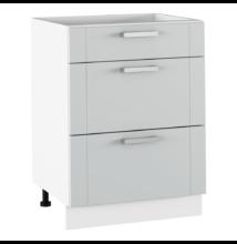 Alsó szekrény, világosszürke/fehér, JULIA TYP 57