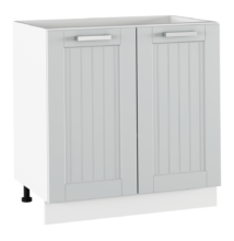 Alsó szekrény, világosszürke/fehér, JULIA TYP 60