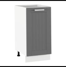 Alsó szekrény, sötétszürke/fehér, JULIA TYP 52