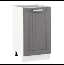 Alsó szekrény, sötétszürke/fehér, JULIA TYP 54