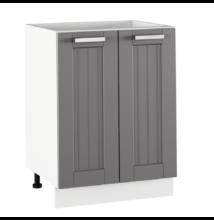 Alsó szekrény, sötétszürke/fehér, JULIA TYP 56