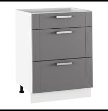 Alsó szekrény, sötétszürke/fehér, JULIA TYP 57