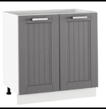 Alsó szekrény, sötétszürke/fehér, JULIA TYP 60