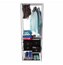Többfunkciós öltöző állvány, ezüst/fekete, CODY