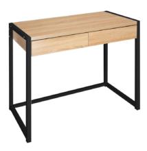 Íróasztal, tölgy/fekete, ALYSANDRA TYP 2