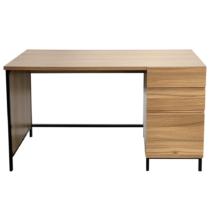 Íróasztal tölgy/fekete, ALYSANDRA TYP 3