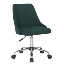 Irodai szék, smaragd színű/króm, EDIZ