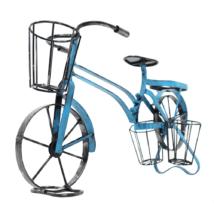 Kerékpár alakú RETRO virágcserép, fekete/kék, ALBO