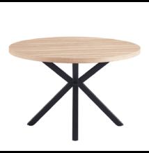 Étkezőasztal, sonoma tölgy/fekete, MEDOR