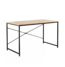 Íróasztal tölgy/fekete, 100x60 cm, MELLORA