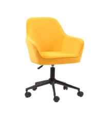 Irodai szék, Velvet szövet sárga/fekete, SORILA
