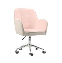 Irodai szék, Velvet szövet rózsaszín/szürke, FELTON