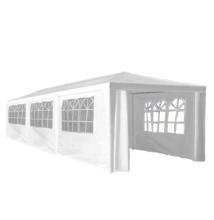 Kerti party sátor, fehér, 3x9 m, TEKNO TYP 3 + 8 oldalsó résszel