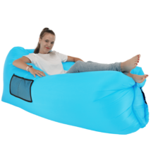 Felfújható babzsák/lazy bag, kék, LEBAG