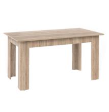 Étkezőasztal, sonoma tölgyfa, 140x80 cm, GENERAL NEW