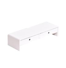 Monitor állvány, bambusz, fehér/természetes, ELARO TYP 2