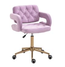 Irodai szék, Velvet szövet rózsaszín/arany, NELIA