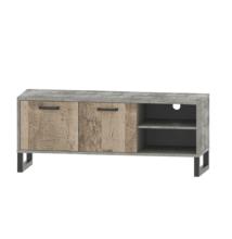 RTV asztal, homok tölgy/szürke, BARIA 2D/140