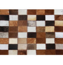 Luxus Bőrszőnyeg, barna /fekete/fehér, patchwork, 120x184, bőr TIP 3