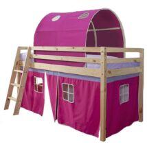 Magasított ágy, természetes/rózsaszín, 90x200, INDIGO