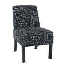 Fotel, fekete-fehér minta/fekete, HEROLA