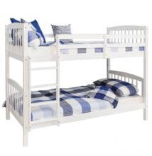 Emeletes, kinyitható ágy , fehér, RAVELO NEW