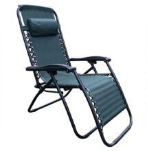 állítható kerti fotel, zöld, GERALD