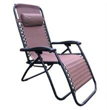 állítható kerti fotel, világosbarna, GERALD