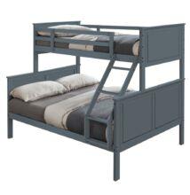 Emeletes szétszedhető ágy, szürke, NEVIL