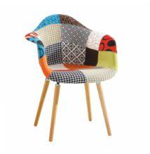 Fotel, anyag patchwork/bükk, KADIR NEW TIP 1