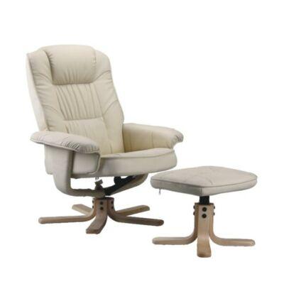 Állítható pihenő fotel, bézs, EDDIE