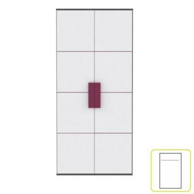 Akasztós szekrény S82, szürke/fehér/lila, LOBETE S82