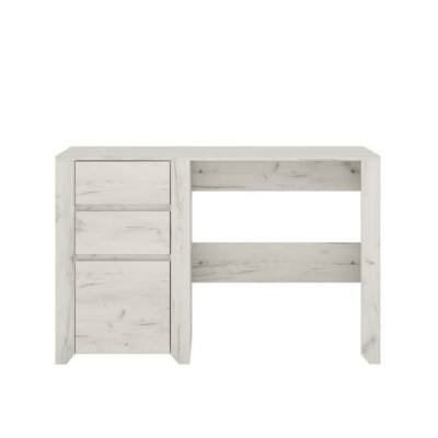 PC asztal 80, 3S, fehér/craft, ANGEL