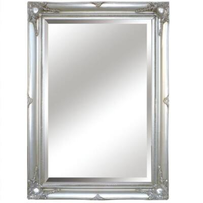 MALKIA TYP 7 Tükör elegáns fakerettel, ezüst színben
