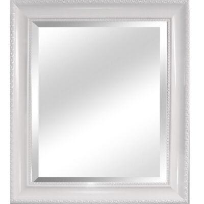 MALKIA TYP 2 Elegáns tükör fakerettel, fehér színben