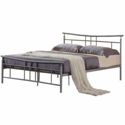 Fém ágy lécezett ráccsal, ezüst fém 180x200, DORADO