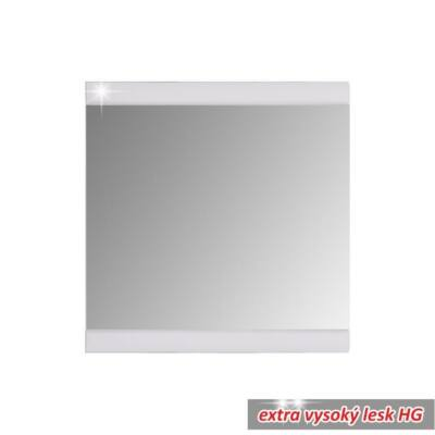 Előszoba tükör, fehér/magas fényű, DERBY 54-260-17