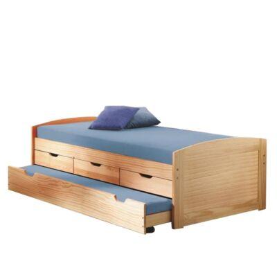 Ágy kihúzható pótággyal, tömörfából, 90x200, MARINELLA