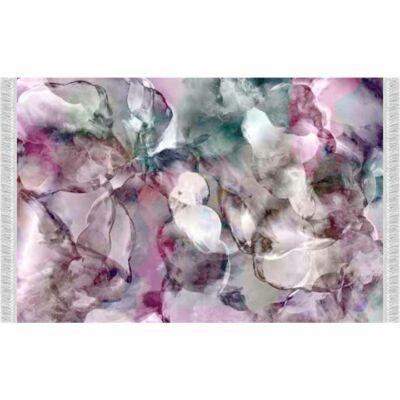 Szőnyeg, rózsaszín/zöld/krém/minta, 80x150, DELILA