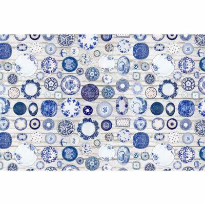 Szőnyeg kék/krém, 80x200, PARLIN