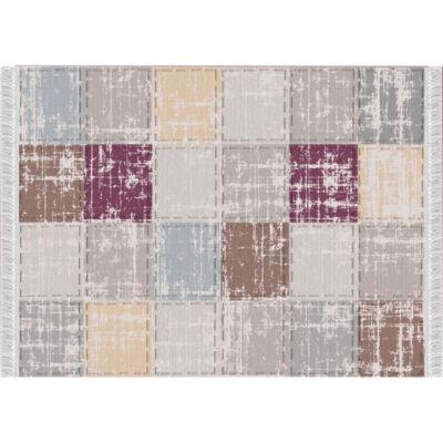 Szőnyeg,barna/bordó/négyzet minta, 160x230, FIRBI