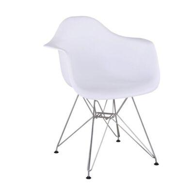 FEMAN 2 NEW szék kivitel : króm lábak , ülőrész fehér műanyag