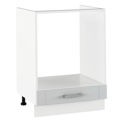 Alsó beépített szekrény, világosszürke/fehér, JULIA TYP 58