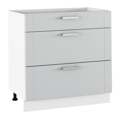 Alsó szekrény, világosszürke/fehér, JULIA TYP 61