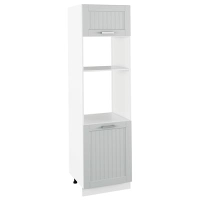 Beépített szekrény, világosszürke/fehér, JULIA TYP 81