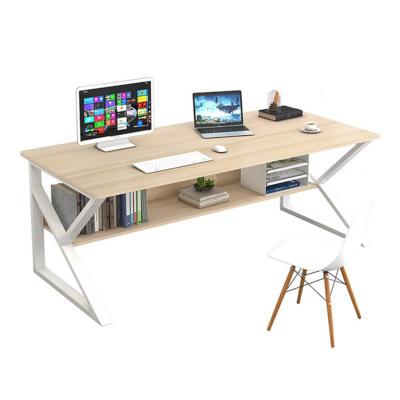 Polcos íróasztal, természetes tölgyfa/fehér, TARCAL 100